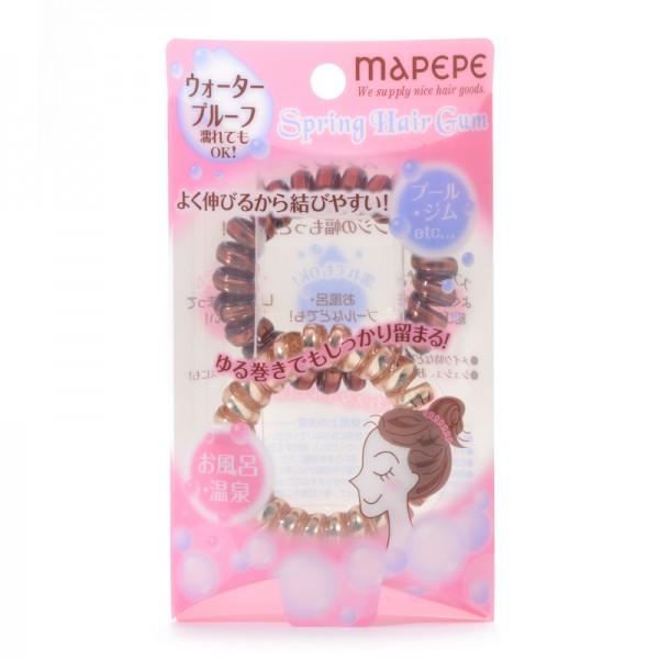 Mapepe Spring Hair Gum GD & BRZ 束髮彈弓型橡筋 金古銅