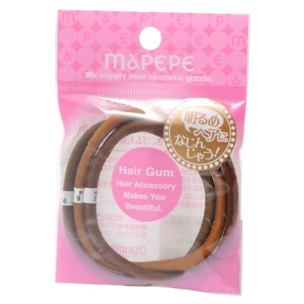 Ring Rubber 3P Brown Mix 混合深浅啡色橡筋