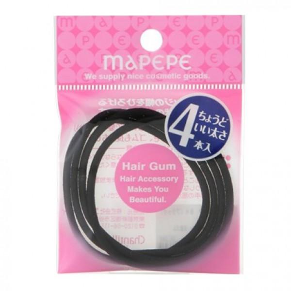 Ring Gum M 4P Black 黑色橡筋