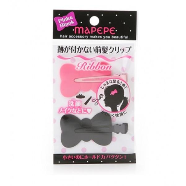 Bang Clip Ribbon (BK & PK) 前蔭無痕蝴蝶型髮夾(黑色及粉紅)