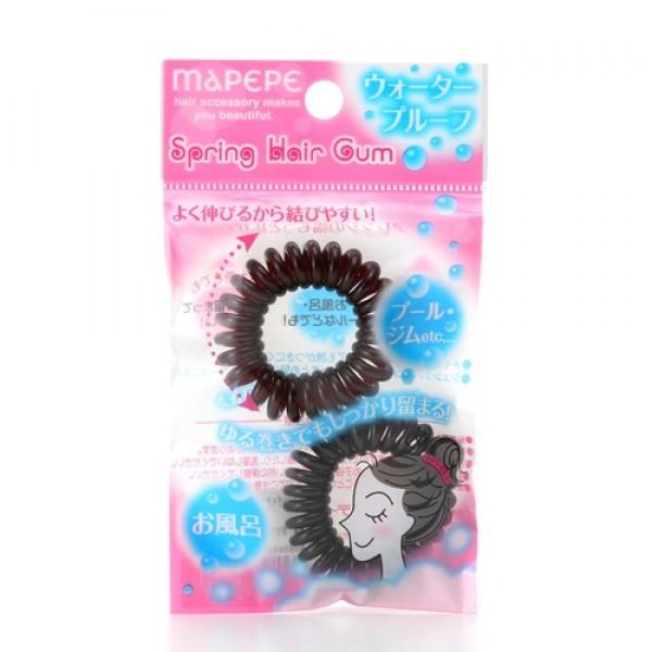 Spring Hair Rubber Black & Brown 束髮彈弓型橡筋